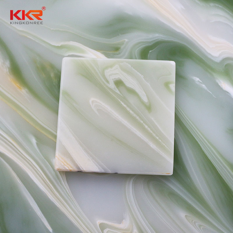Acrylic Stone Translucent Solid Surface Sheets KKR - A026