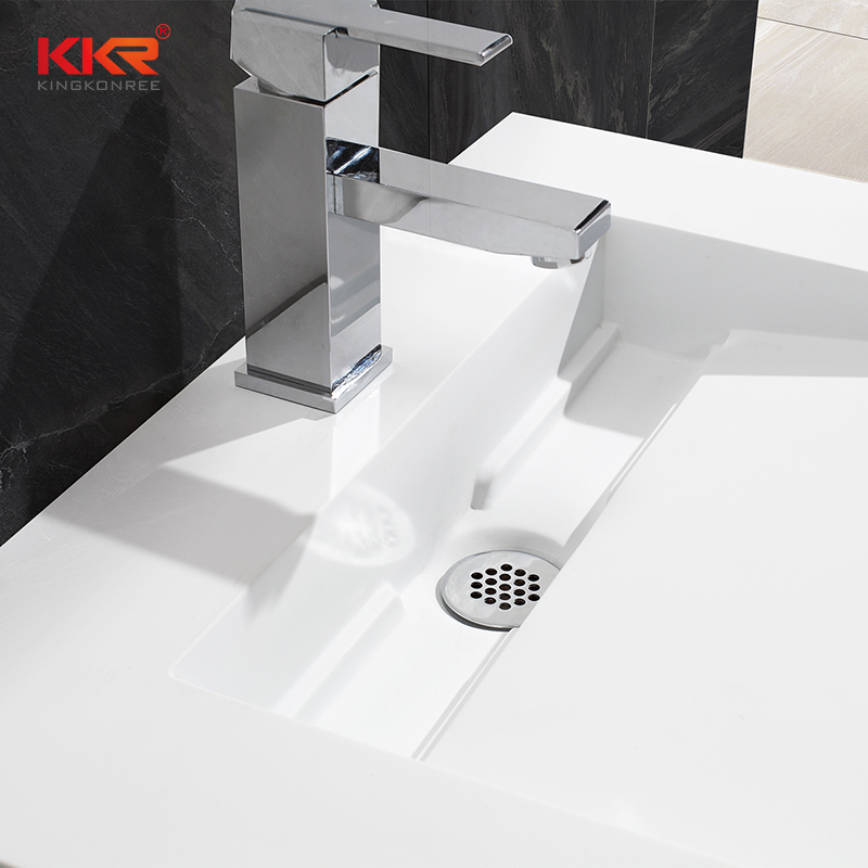 Solid Surface Modern Fancy Unique Wall-hung Basin KKR-1379