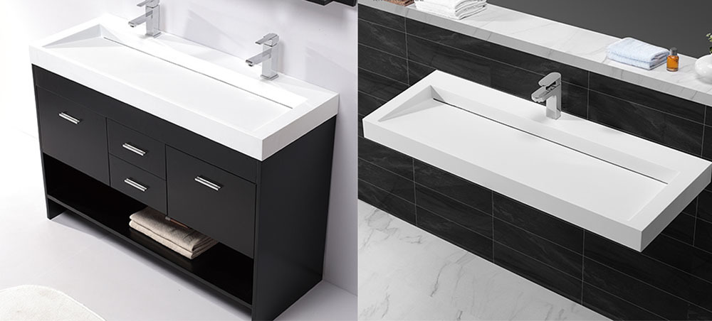 small white basin with cabinet price KingKonree manufacture