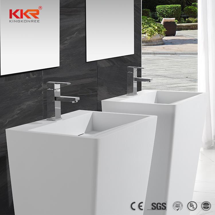 Bathroom Ware Acrylic Solid Surface Freestanding Basin KKR-1384