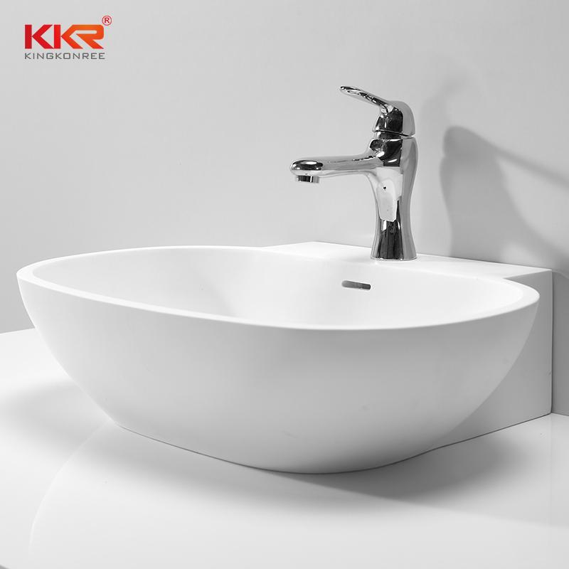 KingKonree Artificial Stone Sanitary Ware Countertop Wash Basin KKR-1328 Above Counter Basin image38