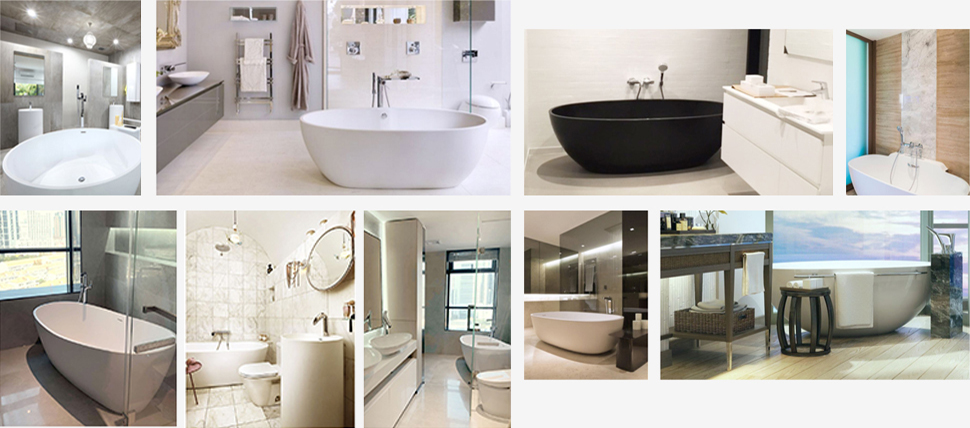 Wholesale ellipse solid surface bathtub KingKonree Brand