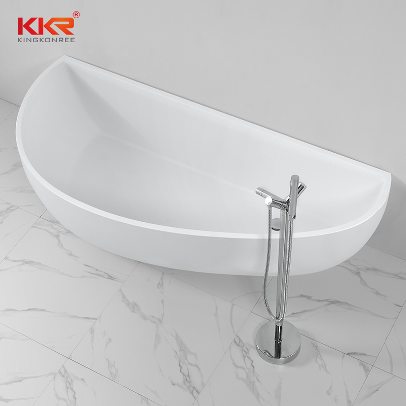 China Supplier Acrylic Solid Surface Bathtub Against The Wall KKR-B004
