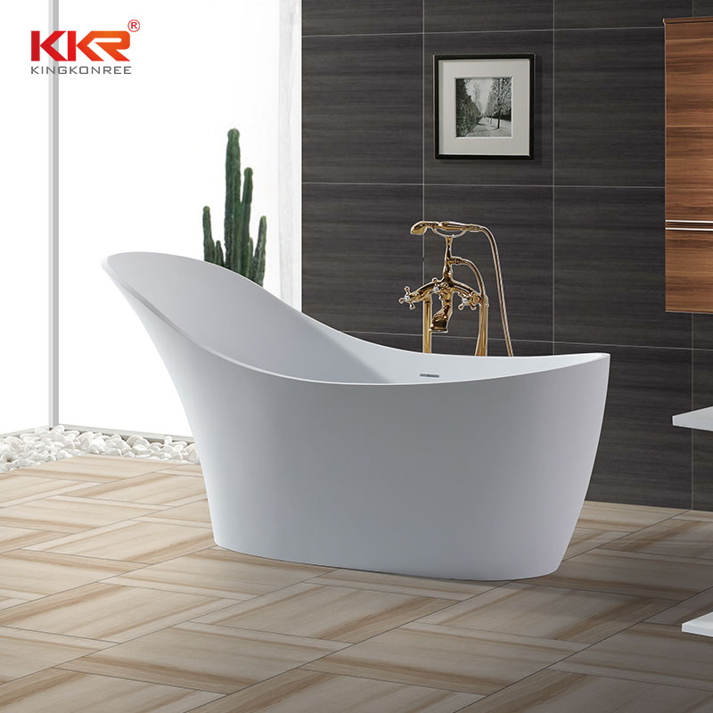 KingKonree China Wholesale Artificial Stone Solid Surface Freestanding Bathtub KKR-B006 Solid Surface Bathtub image31