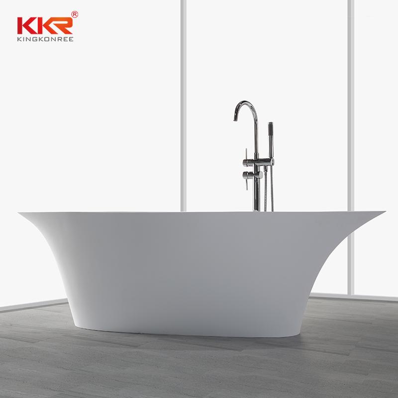 KingKonree 190cm Solid Surface Freestanding Bathtub KKR-B009 Solid Surface Bathtub image29