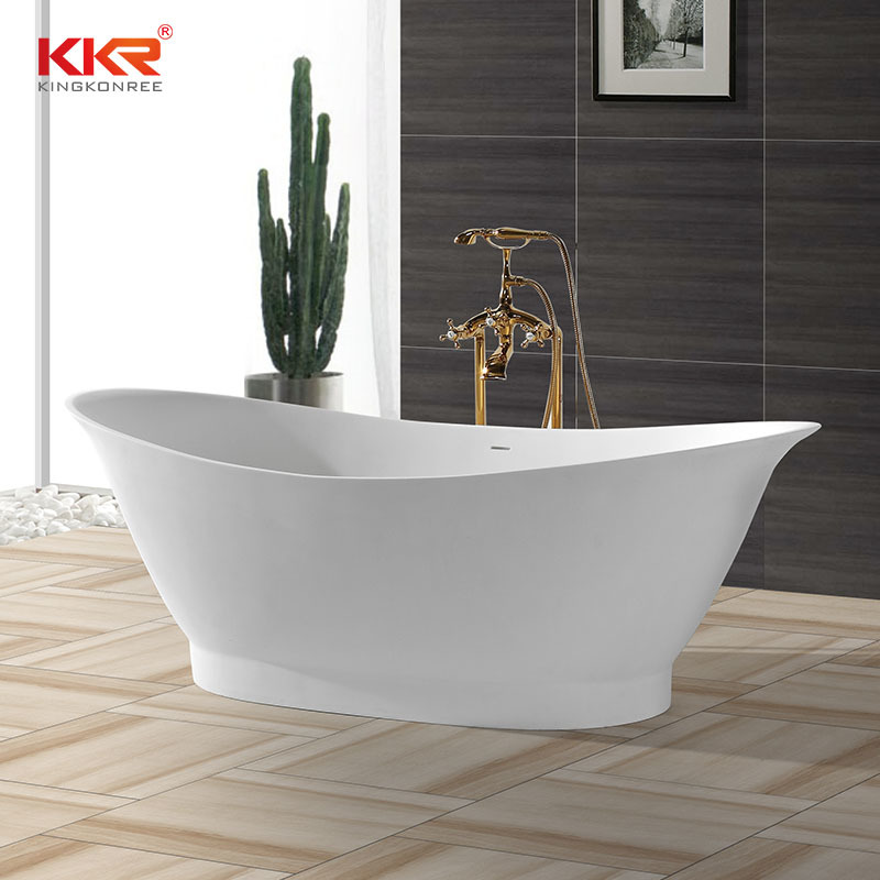 High-End Solid Surface Bathtub With Oval Shape KKR-B010