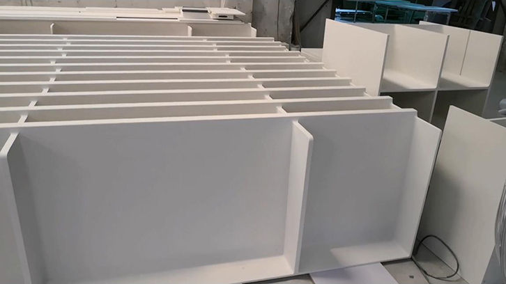 KKR Customization of Artificial Stone Acrylic Solid Surface Shelf