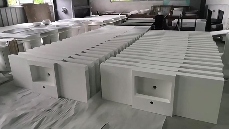 KKR Customized integrated vanity sinks for projects