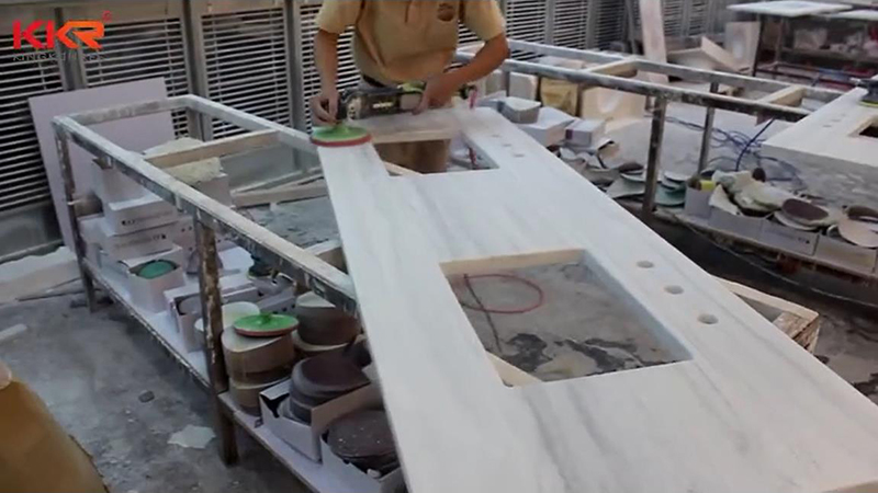 KKR Customized Marble Pattern Vanity Top Fabrication