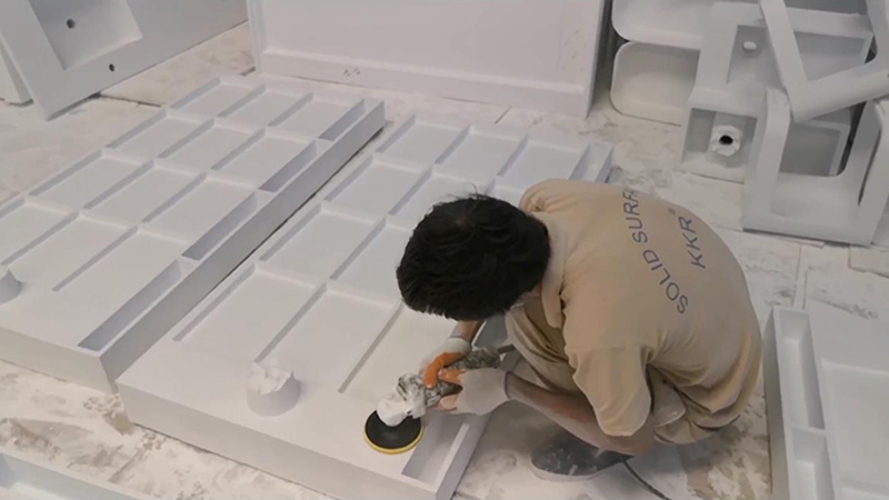 Artificial Stone Acrylic Solid Surface Shower Tray Manufacturing