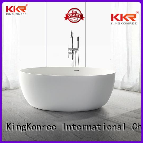 Wholesale ellipse solid surface bathtub KingKonree Brand