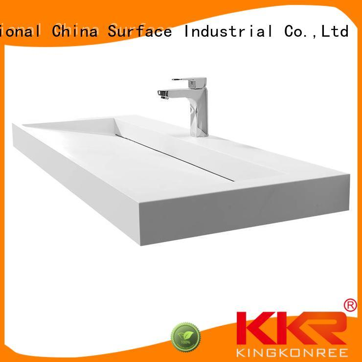 Custom small cloakroom basin with cabine cabinet KingKonree