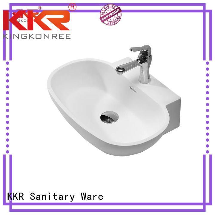 white solid above KingKonree Brand above counter basins