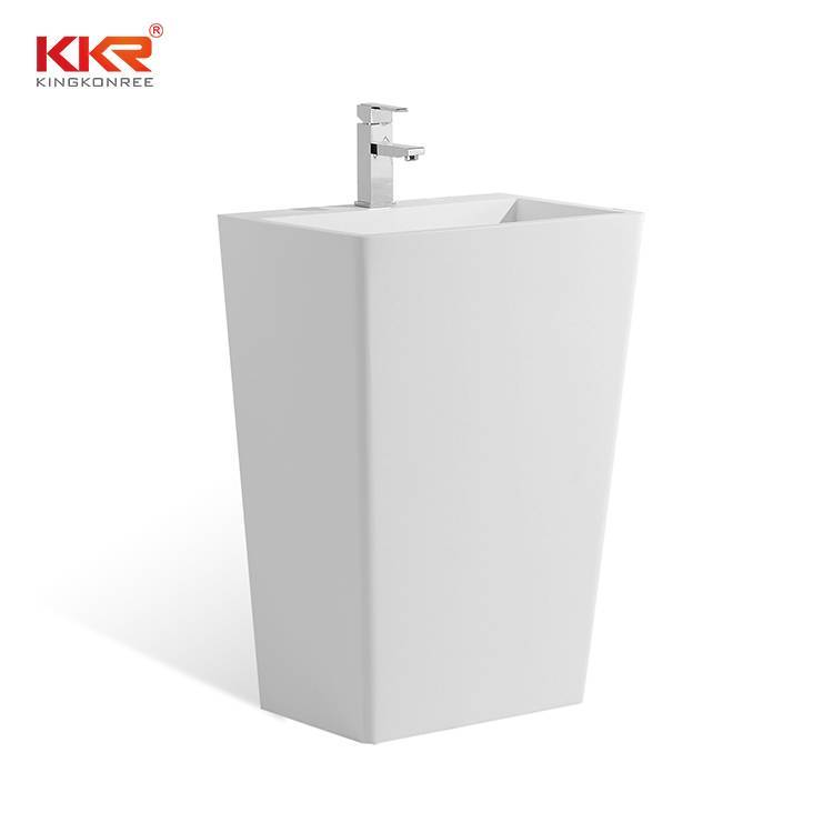 Bathroom Ware Acrylic Solid Surface Freestanding Basin KKR-1384