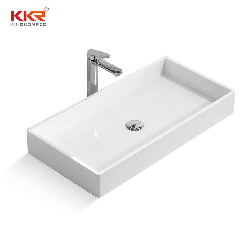 Rectangle Acrylic Solid Surface Above Counter Basin KKR-1327