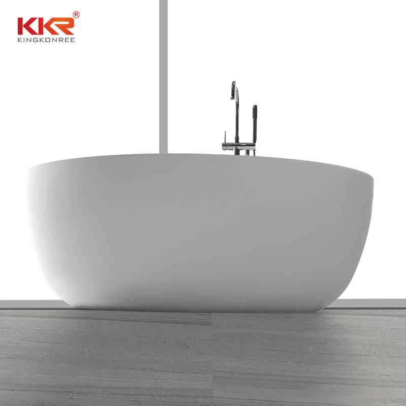 Small Size Round Acrylic Solid Surface Freestanding Bathtub KKR-B002