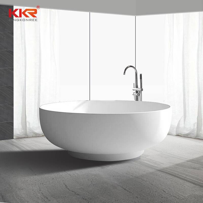150cm Diameter Round Shape Solid Surface Bathtub KKR-B002-C