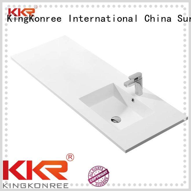 Quality KingKonree Brand slope acrylic cloakroom basin with cabine