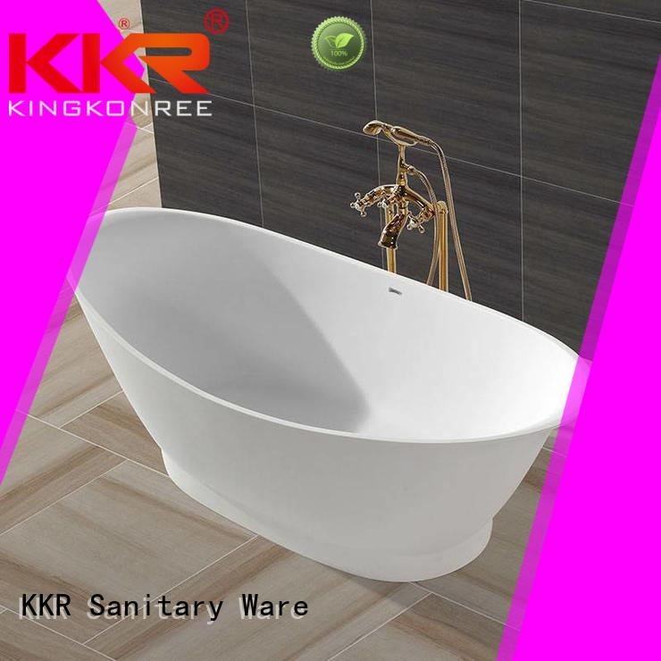 Solid Surface Freestanding Bathtub kkr furniture solid surface bathtub manufacture