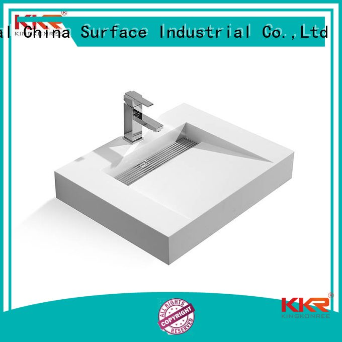 KingKonree Brand wall stone wall mounted bathroom basin fancy supplier
