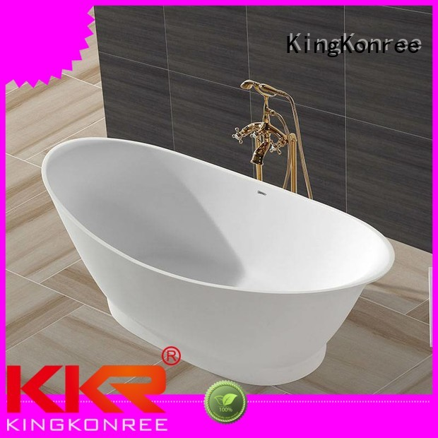 afrtificial b003 solid surface bathtub outside KingKonree Brand company