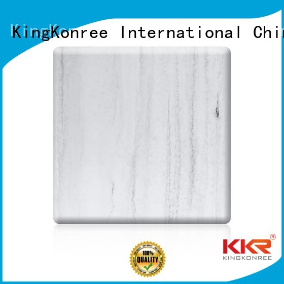 Wholesale pattern solid acrylic sheet surface KingKonree Brand