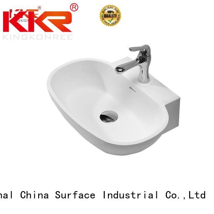 oval above counter basin counter solid wash KingKonree Brand