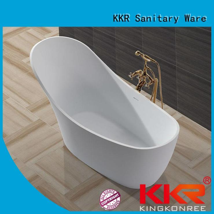 Hot acrylic Solid Surface Freestanding Bathtub b002c KingKonree Brand
