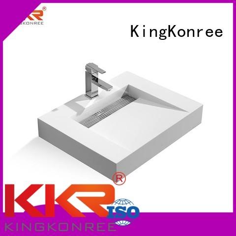 marble unique OEM wall mounted wash basins KingKonree