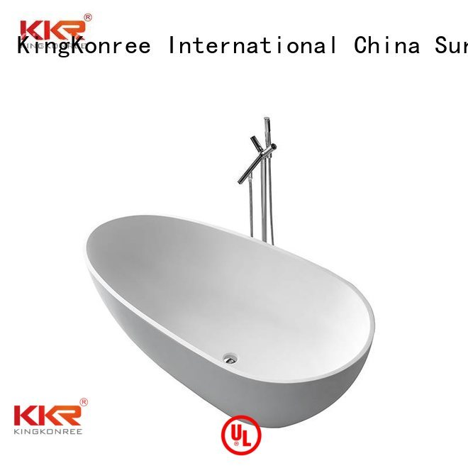 surface stone solid surface bathtub storage KingKonree Brand
