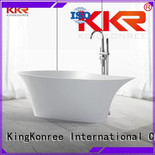 KingKonree Brand 150cm floor custom Solid Surface Freestanding Bathtub