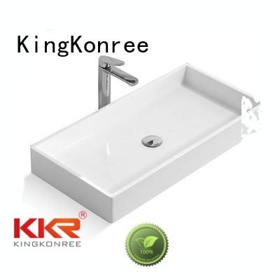 square wash above counter basins artificial KingKonree Brand