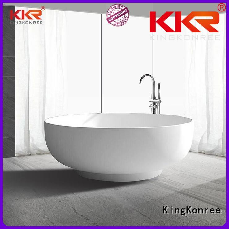 150cm renewable KingKonree Brand Solid Surface Freestanding Bathtub factory