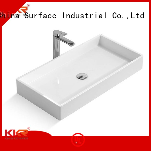 sanitary bathroom acrylic KingKonree Brand above counter basins supplier