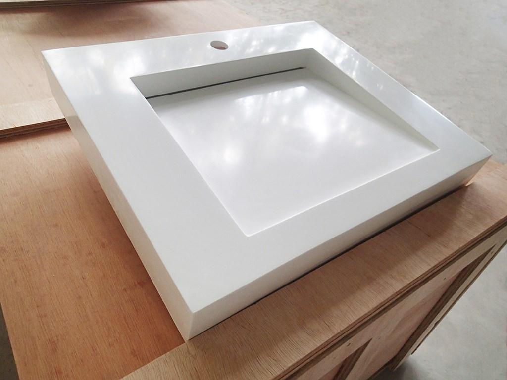 size small wall mounted bathroom basin resin KingKonree company