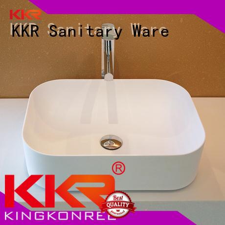 Wholesale surface shape above counter basins KingKonree Brand