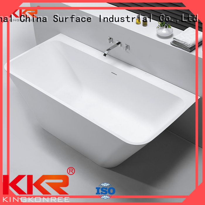 Solid Surface Freestanding Bathtub resin solid surface bathtub KingKonree Brand