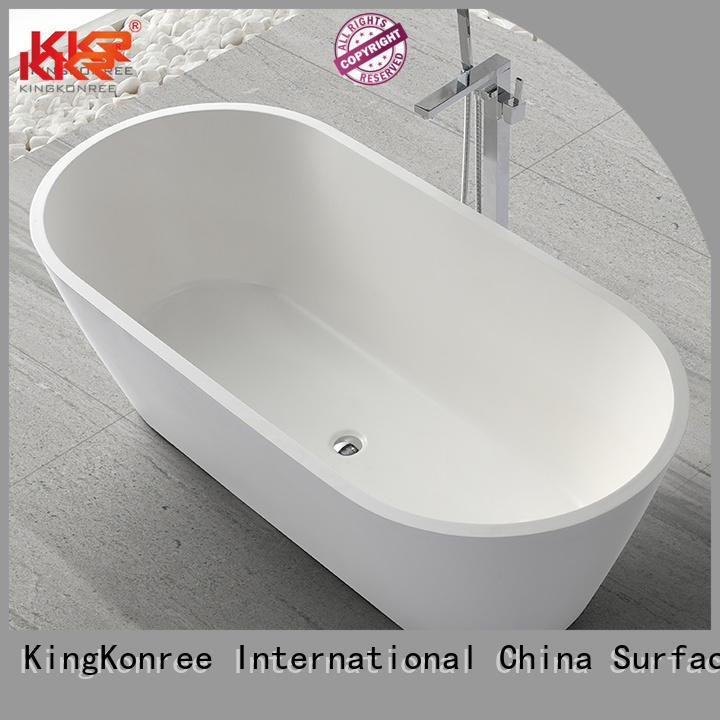 Quality KingKonree Brand Solid Surface Freestanding Bathtub 150cm