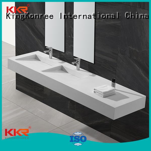 surface sales hung rectangle wall mounted wash basins KingKonree