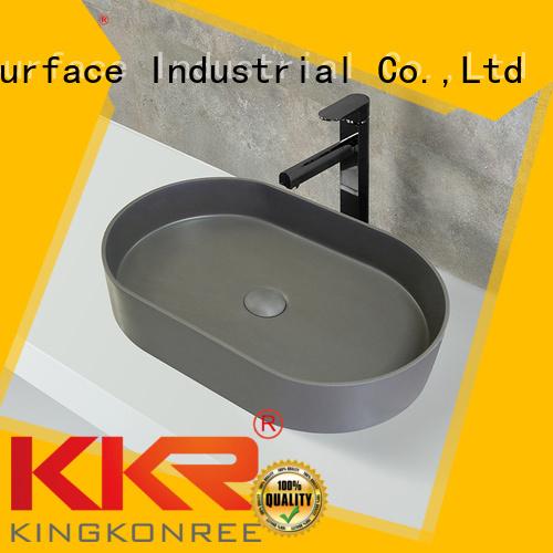solid wash oval above counter basin KingKonree manufacture