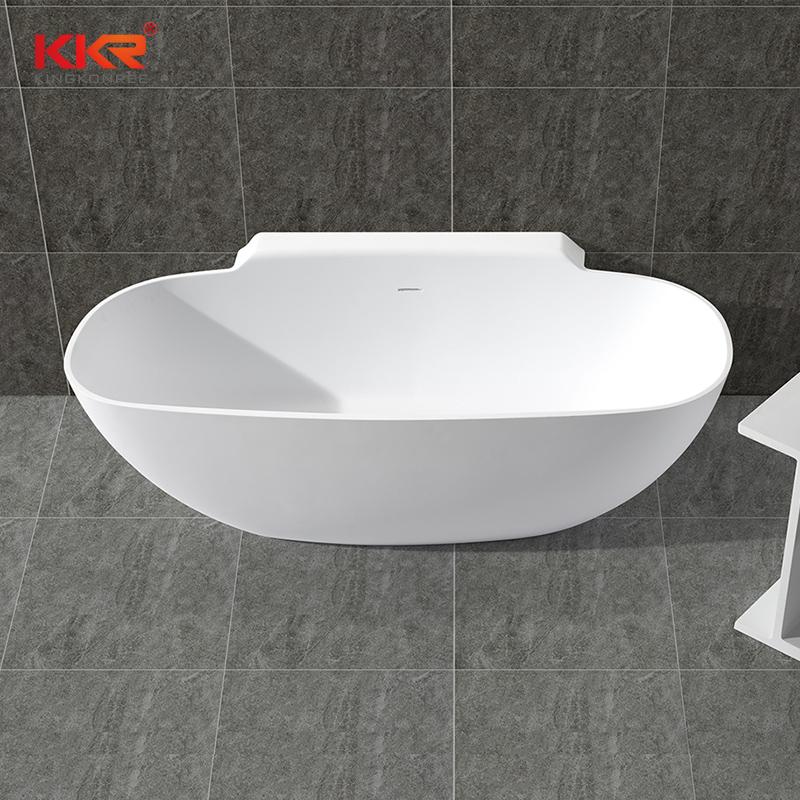 KingKonree KKR Wholesale artificial stone freestanding solid surface soaking bathtub KKR-B025 Solid Surface Bathtub image24