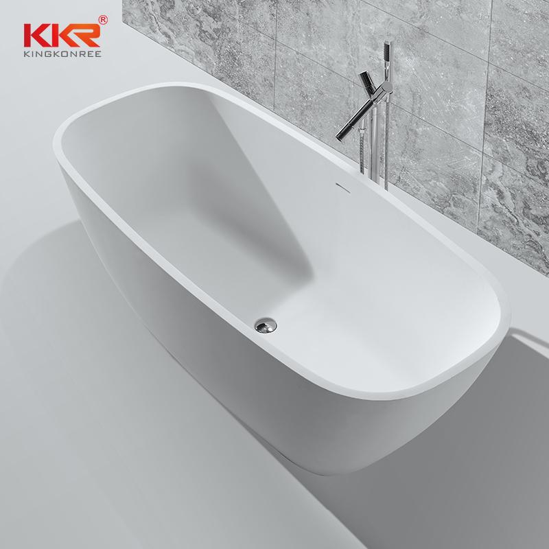 KingKonree Solid surface resin stone freestanding bathtubs KKR-B037 Solid Surface Bathtub image22