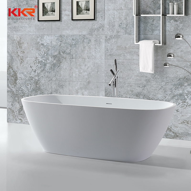 Solid surface resin stone freestanding bathtubs KKR-B037