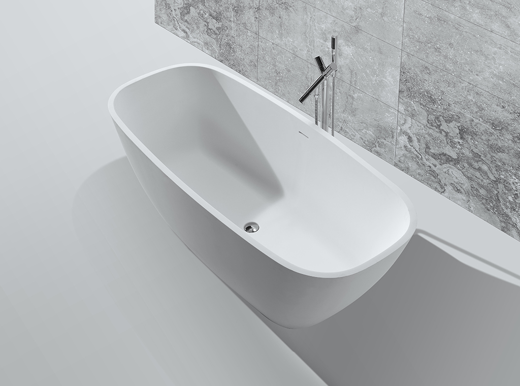 solid big surface inside KingKonree Brand solid surface bathtub supplier