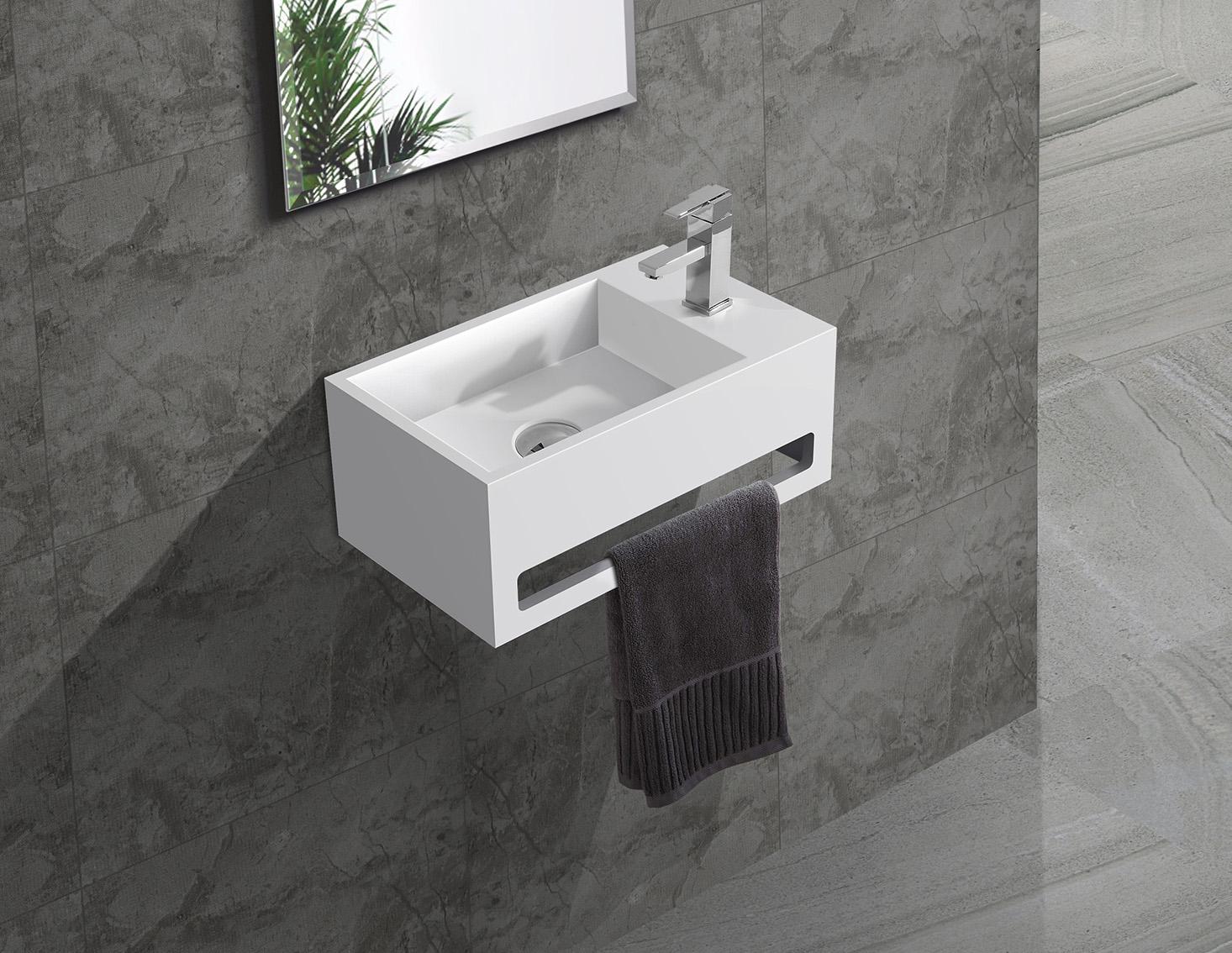 Hot slope wall mounted bathroom basin hanger KingKonree Brand