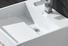rectangle selling wall mounted bathroom basin ware design KingKonree Brand