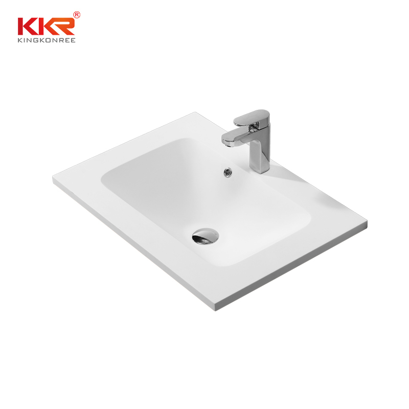 Sanitary ware luxurious solid surface cabinet basin KKR-1523