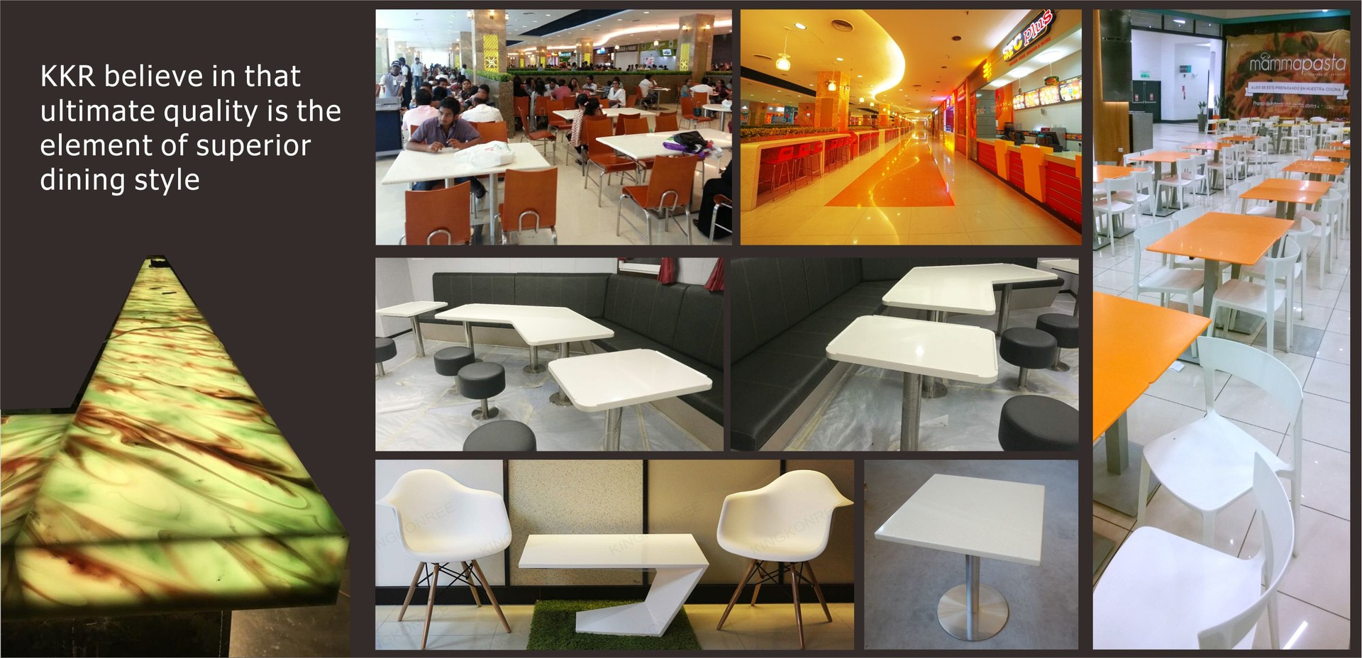 KKR believe in that  ultimate quality is the  element of superior  dining style