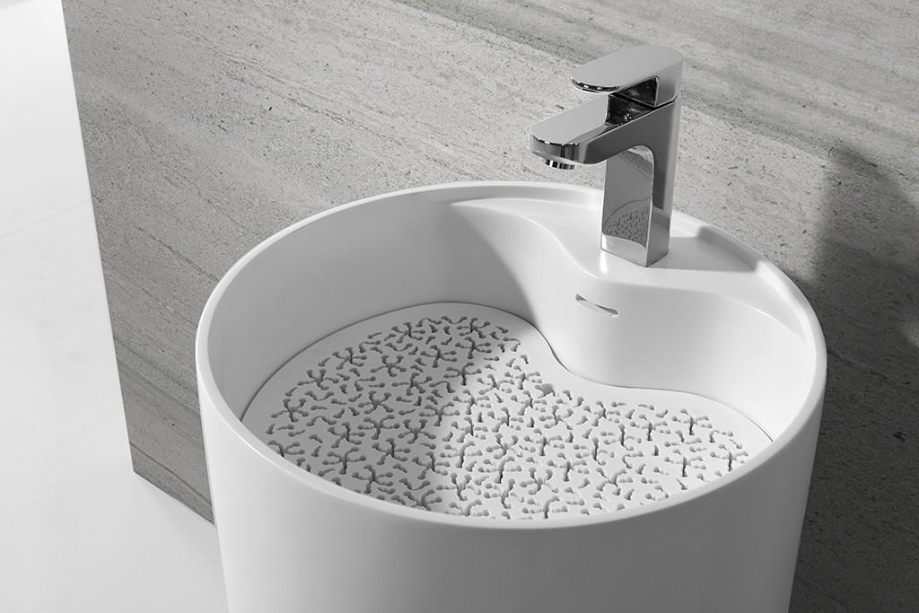 KingKonree Brand marble solid basin custom bathroom free standing basins