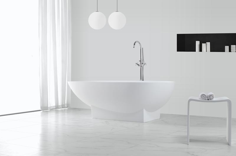 KingKonree Brand length artificla big atrifial solid surface bathtub